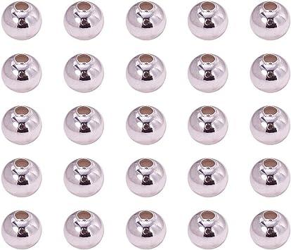 1440 Pezzi Perline sciolte distanziatore Rotondo Bianco Nero per Braccialetti PandaHall 24 Colore 6mm Perline di Vetro creazione di Gioielli con orecchino di collane