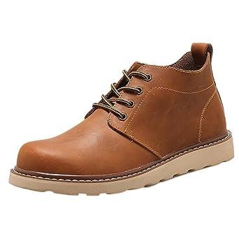 Amlaiworld Zapatillas De Hombre Zapatos de vestir Hombres Zapatos con cordones Para hombre Botas Zapatos de