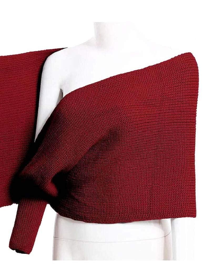 heekpek Sciarpa da donna lavorata a maglia con maniche