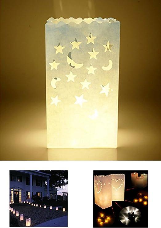10 Pcs Party Festive Tealight Candle Paper Bag Lantern Wedding Party Decoration