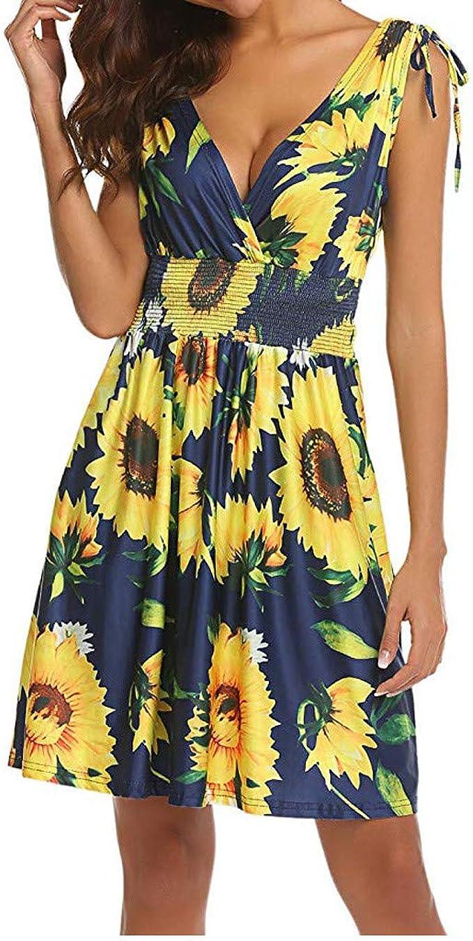 Kleid Damen Sommer Kleid Kleider T Shirt Sommerkleid Damen Sommer