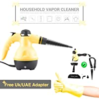 Draxon Steam Cleaner 1000WATT Portable Handled High Pressure Machine For House/Car/InDoor, OutDoor, Sanitizer Use With Multifunctions Accessosries (UAE Adapter Included) منظف بخار