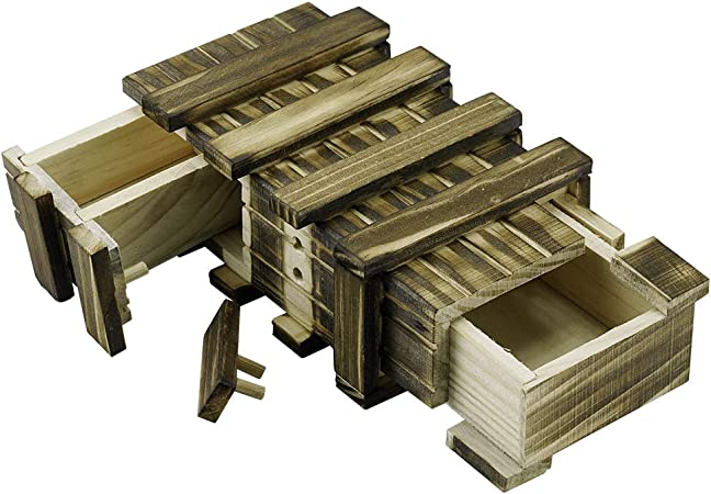 Locisne Caja de regalo de madera mágica 2 compartimentos de ...