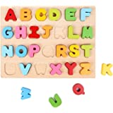 Cannan Alphabet Stand Up Kid's Wooden Learning Puzzle