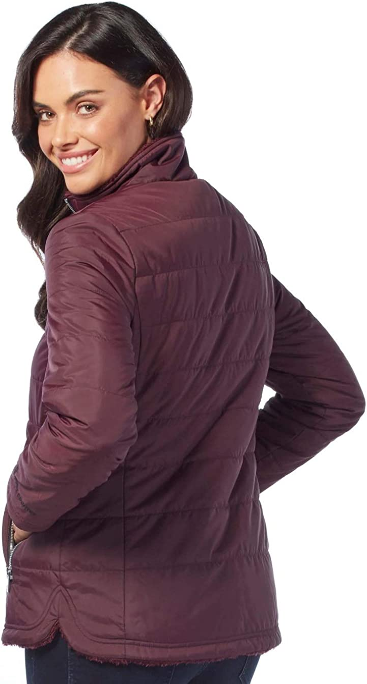 Free Country Womens Petite Cascade Quilted Reversible Jacket
