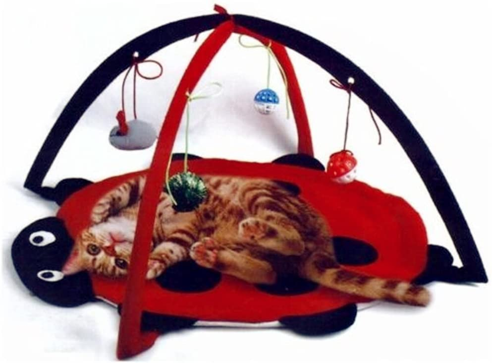 Petty Love House Cat Activity Center with Hanging Toy Balls, Mice More - Helps Cats Get ExerciseStay Active Best Cat Toys on Amazon