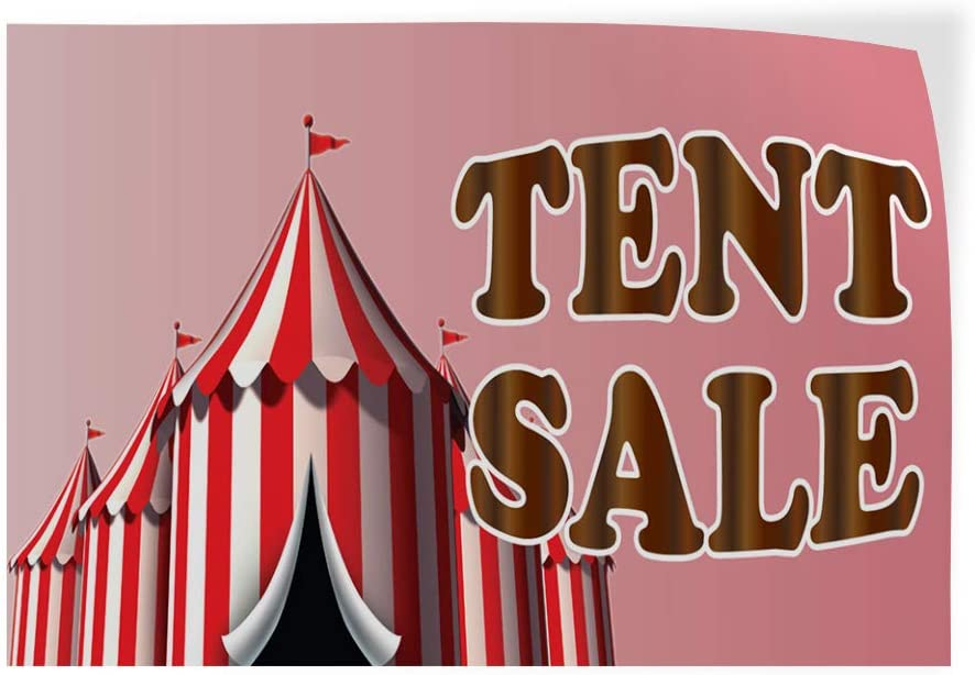 Decal Sticker Multiple Sizes Tent Sale Business Style T Business Tent Sale Outdoor Store Sign White Set of 2 52inx34in