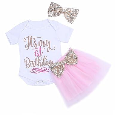 Feeshow Baby Mädchen Kleidung Set Romper Tutu Rock