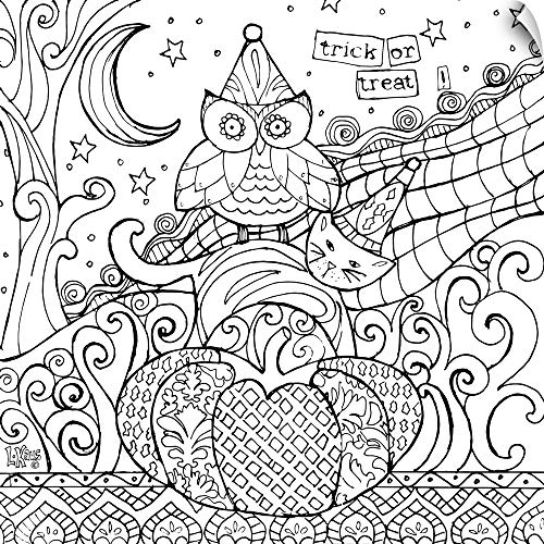 CANVAS ON DEMAND Trick or Treat Owl Wall Peel Art Print, -