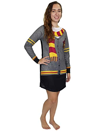126cd6b7a1 Harry Potter Hogwarts Gryffindor Women s Long Sleeve Nightgown Pajamas  (X-Small