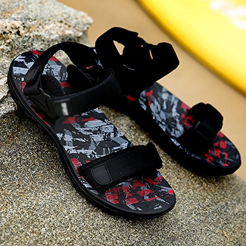 Sandals MAZHONG Summer Men's Beach Shoes Casual Sports Outdoor Personality (Color : A, Size : EU41/UK7.5-8/CN42) C