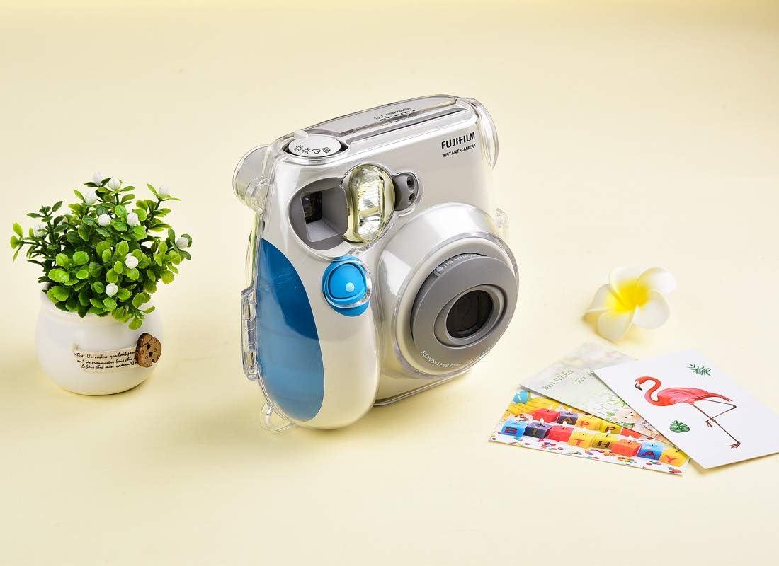SAIKA Crystal /Étui de protection pour appareil photo instantan/é Fujifilm Instax Mini 7s avec bandouli/ère