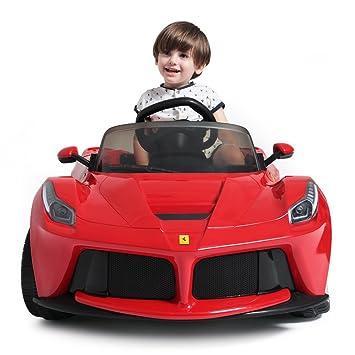 rastar 12v ferrari laferrari kids electric ride on car with mp3 and remote control red
