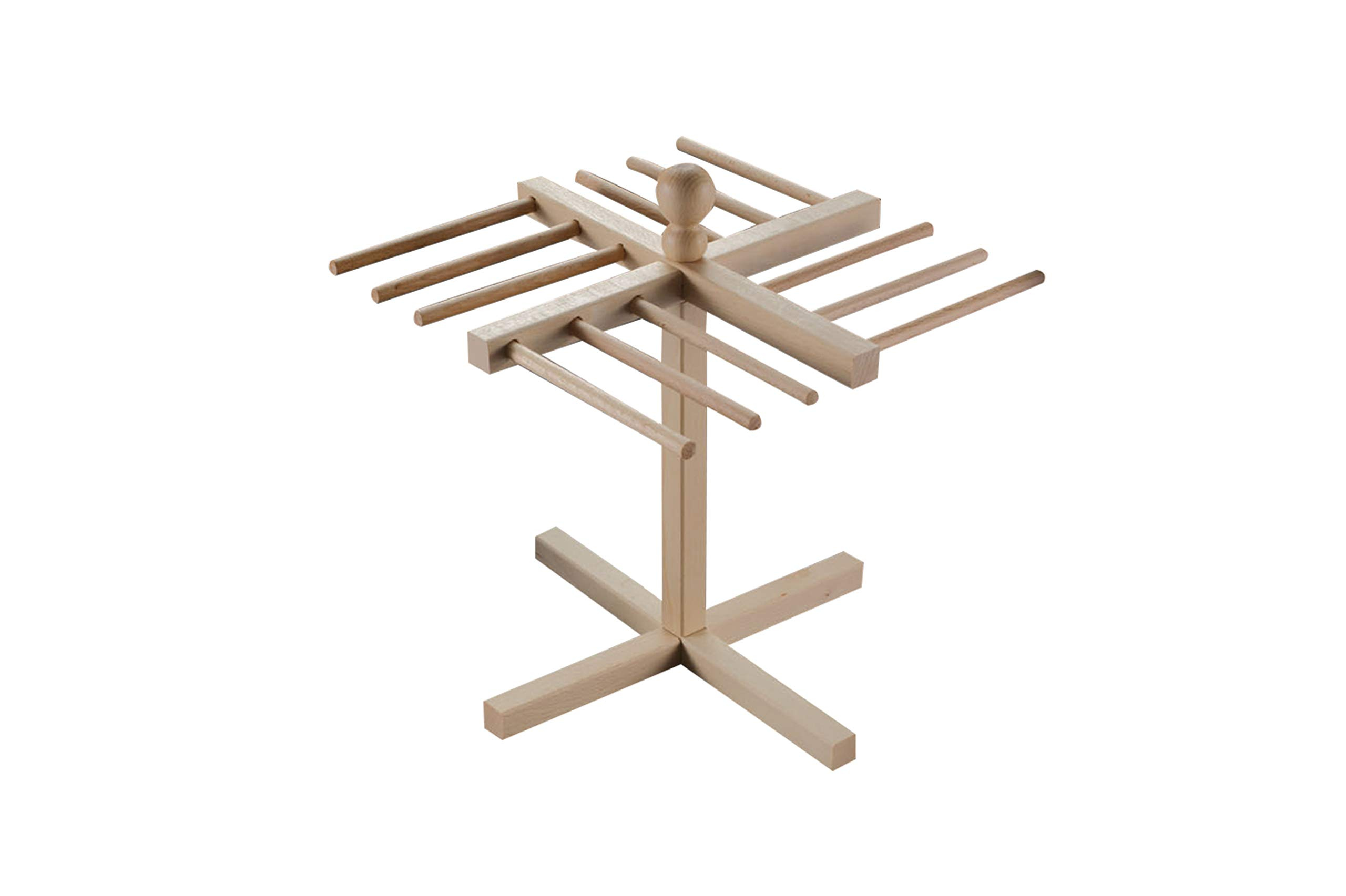 Pasta Drying Rack By Imperia - Made in Italy with Italian Beech Wood Construction - Holds 1lb of Pasta