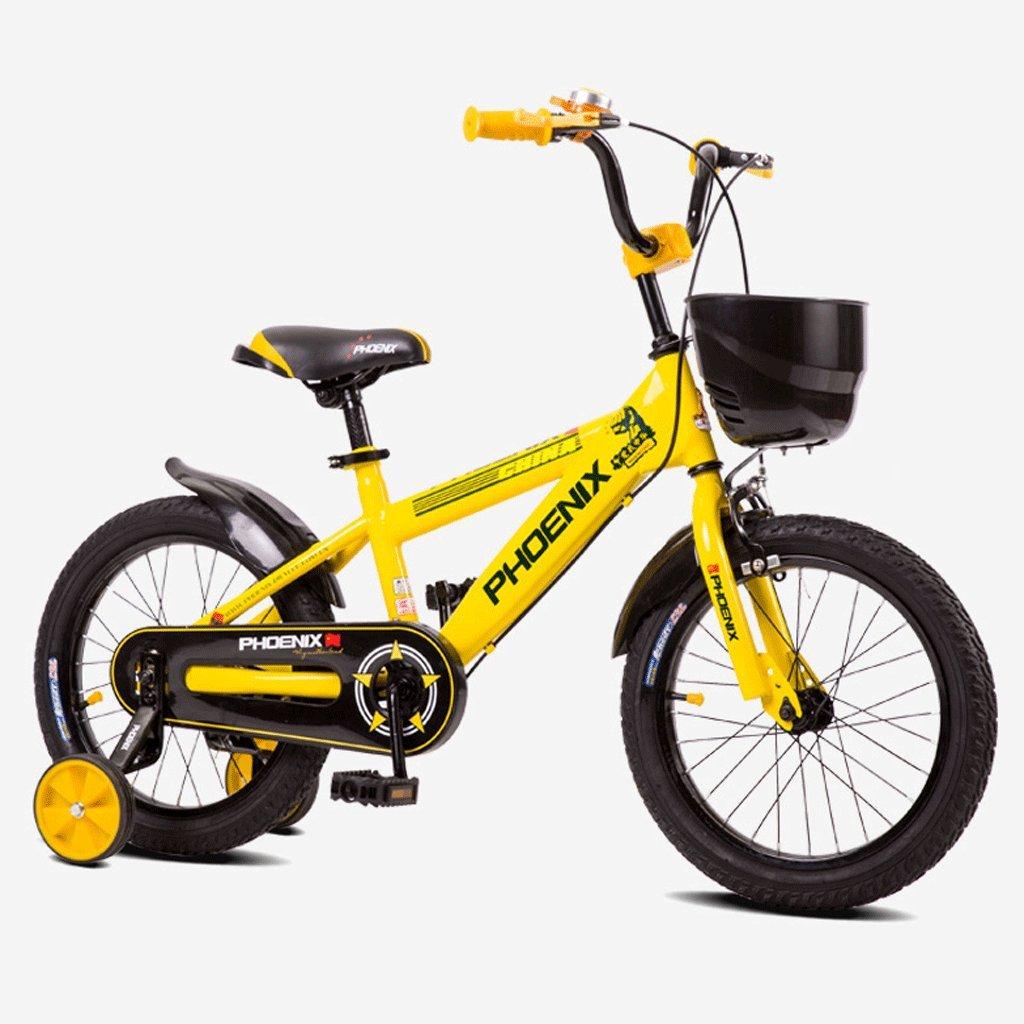子供の自転車キッズペダル自転車の少年少女の赤ちゃん2-10屋外バギー (色 : イエロー いえろ゜, サイズ さいず : 16 inches) B07DCHRF4Xイエロー いえろ゜ 16 inches