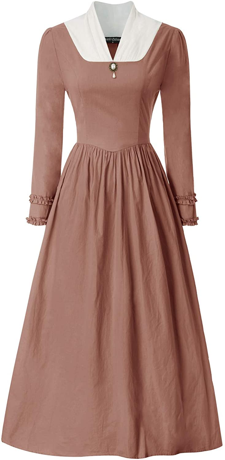 Victorian Costumes: Dresses, Saloon Girls, Southern Belle, Witch SCARLET DARKNESS Womens Pioneer Colonial Costume Vintage Prairie Civil Dresses $35.99 AT vintagedancer.com
