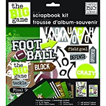 me & my BIG ideas 8-Inch x 8-Inch Scrapbook Page Kit, Football