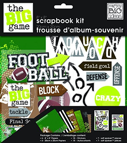 - me & my BIG ideas Scrapbook Page Kit, Football, 8-Inch by 8-Inch