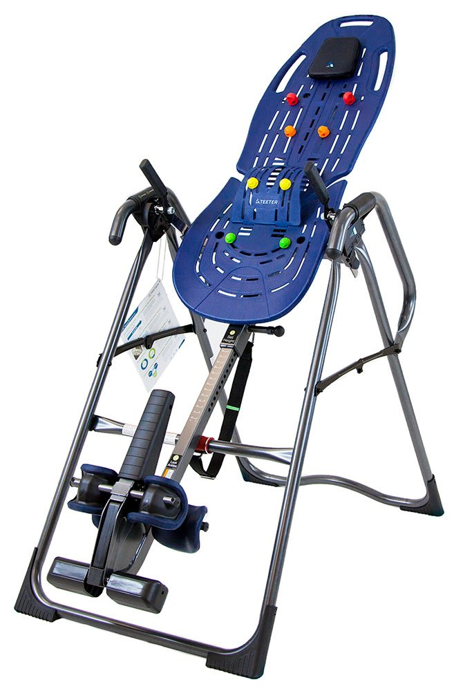 Teeter Ep-960 LTD. Refurbished Ep-960 LTD Inversion Table, 3Rd-Party Safety Certified, Precision Engineering, with Extended Ankle Lock Handle & Better Back Accessories, Blue