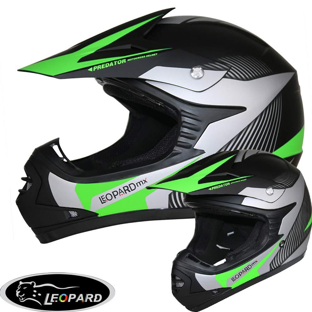 49-50cm Yellow//White S Leopard LEO-X17 KIDS MOTOCROSS HELMET Children Quad Dirt Bike Crash Motorbike ATV Helmet
