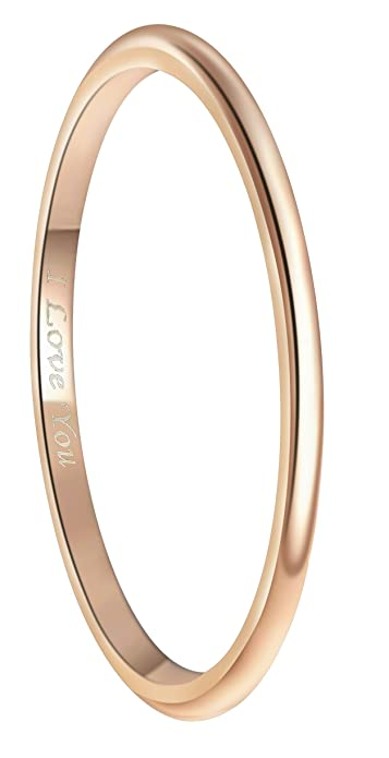 568274631 Crownal 2mm 4mm 18K Rose Gold Plated Tungsten Wedding Couple Bands Rings  Men Women Plain Dome