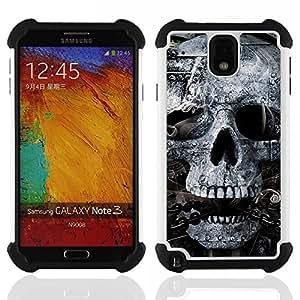 For Samsung Galaxy Note3 N9000 N9008V N9009 - Skull Mummy Egypt Pharaoh Black White Dual Layer caso de Shell HUELGA Impacto pata de cabra con im????genes gr????ficas Steam - Funny Shop -