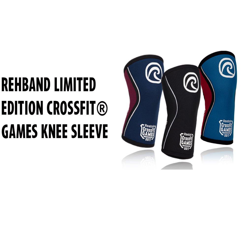 e90d3a2664 Rehband CrossFit® Games Limited Edition Bandage de genou en néoprène Rx de  5 mm, genouillère, bandage articulaire au genou, musculation du genou:  Amazon.fr: ...
