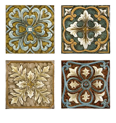 Imax Corporation Casa Medallion Tiles (Set of 4) from Imax