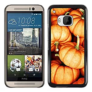Planetar® ( Pumpkin Halloween Orange Fall Autumn ) HTC One M9 Fundas Cover Cubre Hard Case Cover