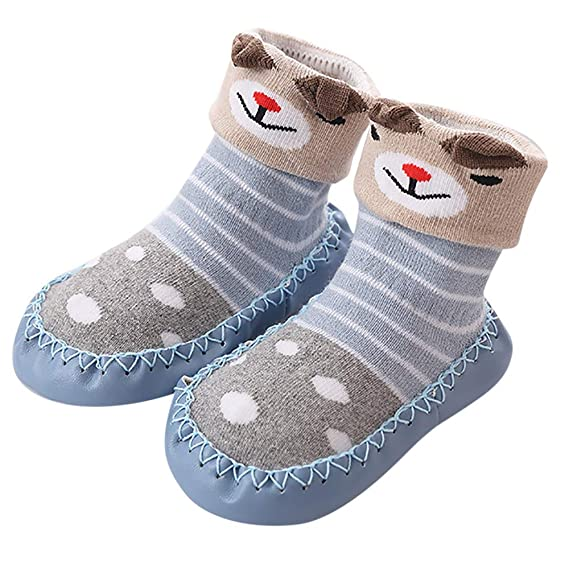 Sencillo Vida Calcetines Antideslizantes Bebe Recién Nacido Calcetines Largos de Algodón para Niñas Niños Baby Toddler