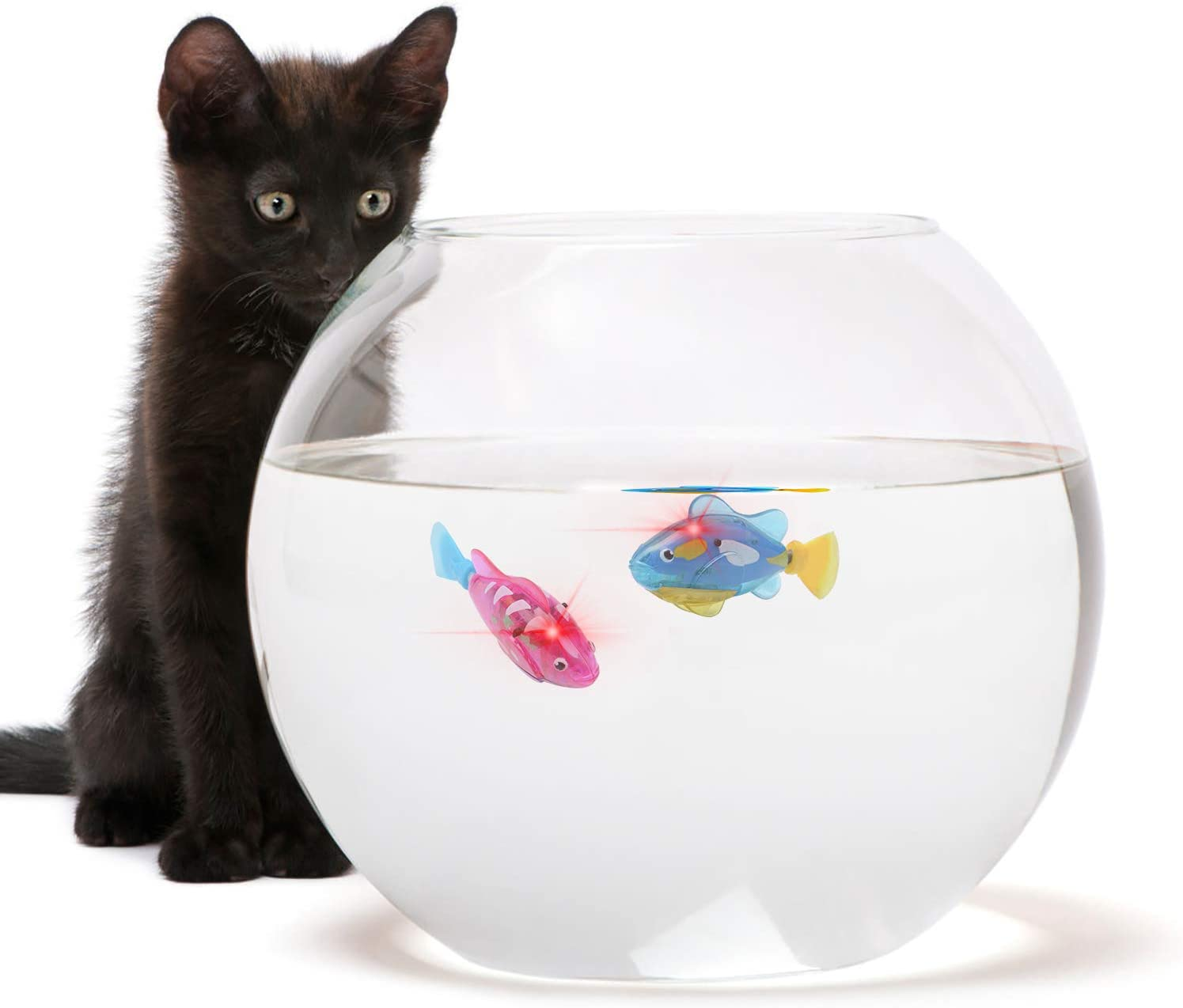 ZOYLINK 4PCS Cat Toy Creative Swimming Fish Toy Cat Interactive Toy Electric Fish Toy