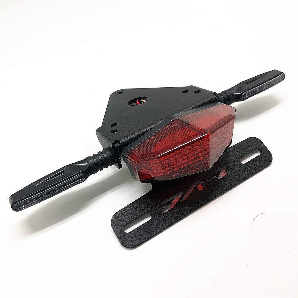 License Plate Holder Fender Eliminator Rear Tail Tidy LED Brake Lights Turn Signal For Suzuki DRZ400 S//SM DR-Z Red