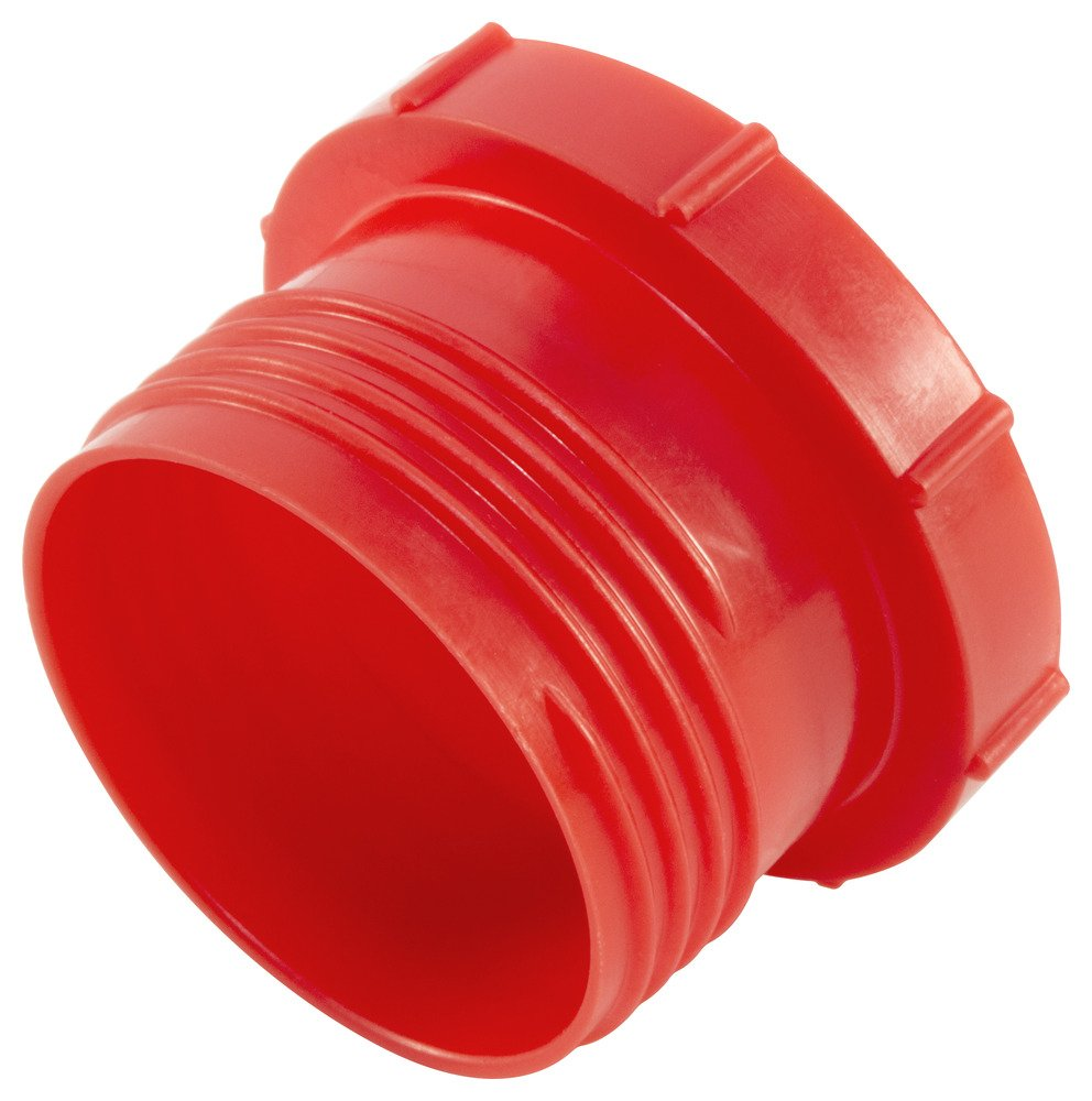 Caplugs Plastic Threaded Plug for Flareless Tube and Nut Assemblies. PDE-10, PE-LD, To plug thread size 7/8-14'', Red (Pack of 500)