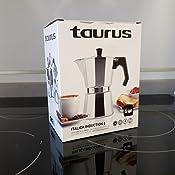 Taurus Italica Induccion 6T Cafétera A Fuego Italiana para Gas, Aluminio: Amazon.es: Hogar