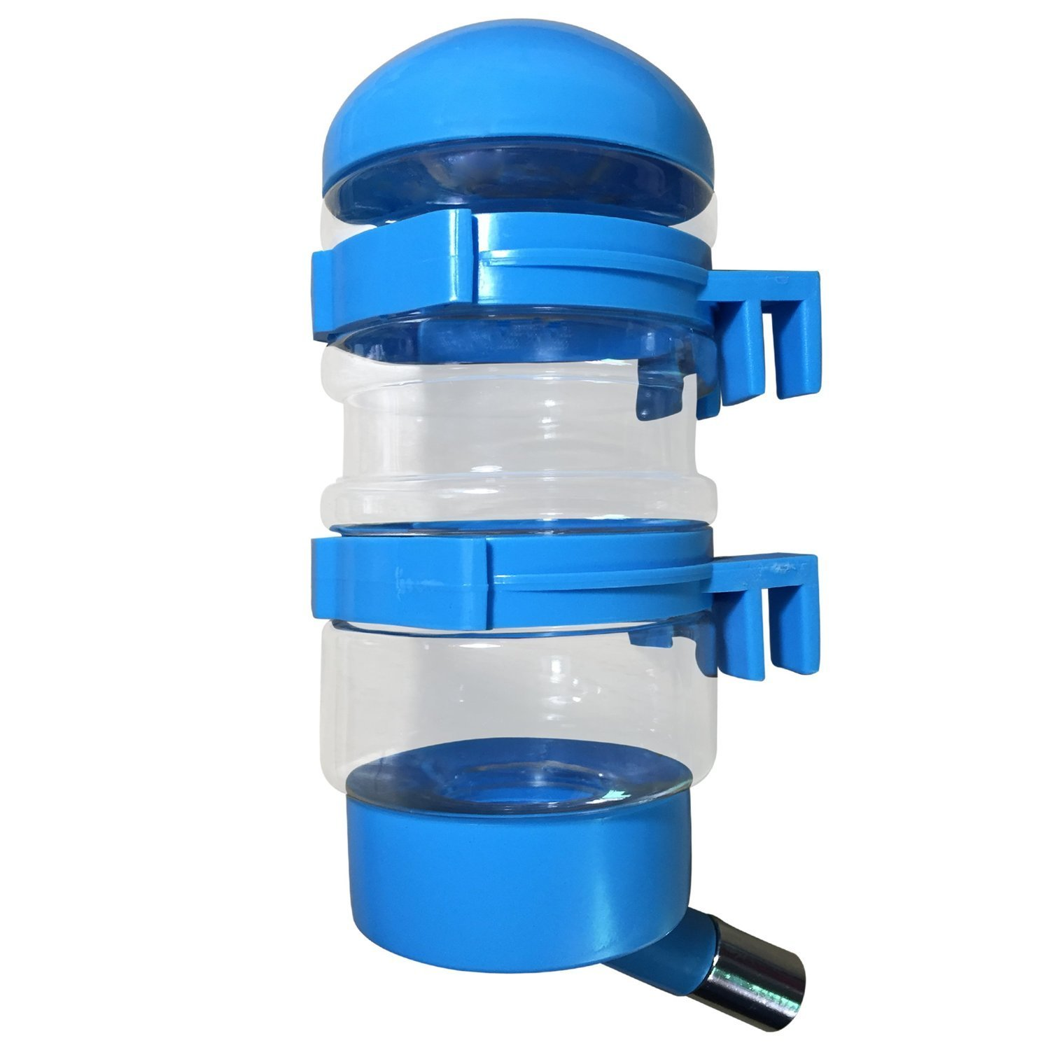 SatisPet Dog Water Dispenser in Blue 14 fl oz Water Bottle for Cats & Dogs - Leak-proof Fountain for Automatically Feeding Water That Hooks on the Pet's Crate Made of BPA Free Plastic