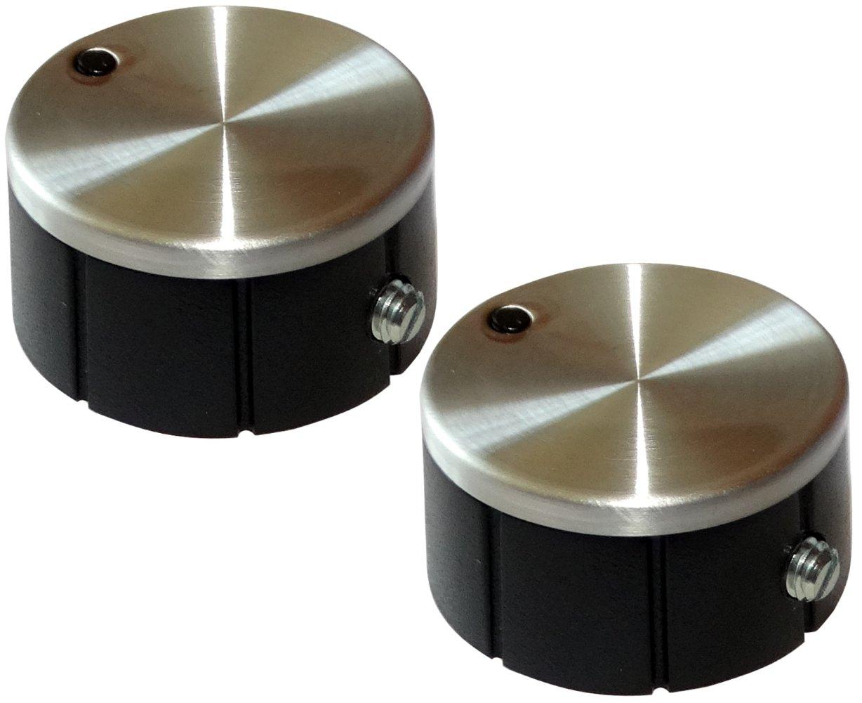 AERZETIX: 2 x botó n para potenció metro 6mm Ø 24 x 12.4mm de aluminio SK2-C12477-KU4K54