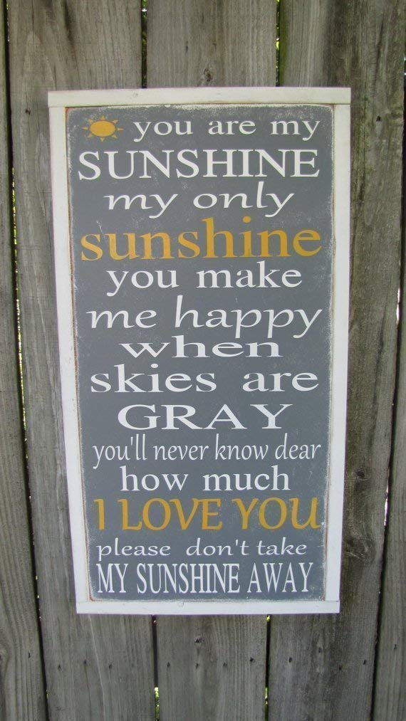 You Are My Sunshine Wooden Sign Inspirational Wood Sign Kids Room Wall Art Childrens Room Decor Nursery Wall Hanging