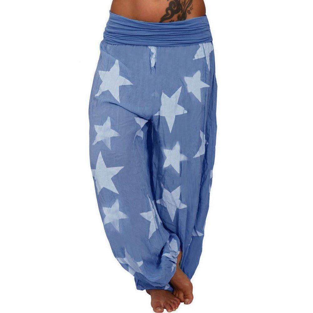Medias Deportivas Femeninas,Yesmile Se/ñoras de Cinco Puntas Estrella Suelta Pantalones de Yoga de Cintura Alta Pantalones de ch/ándal de Estilo Poupular