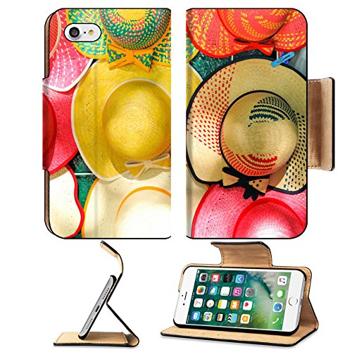 Liili Premium Apple iPhone 7 Aluminum Snap Case Colorful Handmade Hats by the yucatan mayans descendants IMAGE ID 18998225