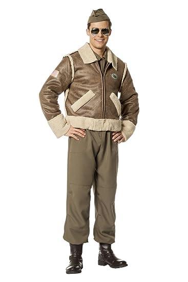 Pilot Kostüm Army Gr Fasching Pilotenjacke Karneval Herren vI7byYf6g