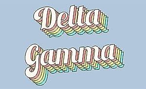 Delta Gamma - Sorority Letter Flag (Retro Design)