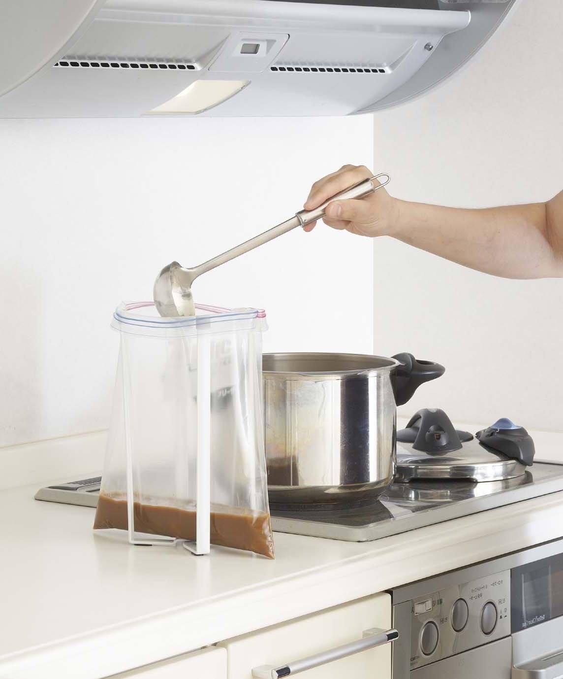 Amazon.com: YAMAZAKI Home Tower Kitchen Multi Eco Stand Plastic Bag Holder,  White: Home U0026 Kitchen