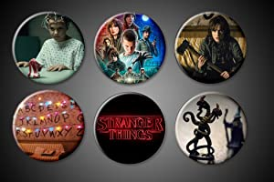 Stranger Things Magnets Set Netflix TV Series Show Winona Ryder Will Byers is missing! Eleven Supernatural (Pinbacks, 1.75 inches)