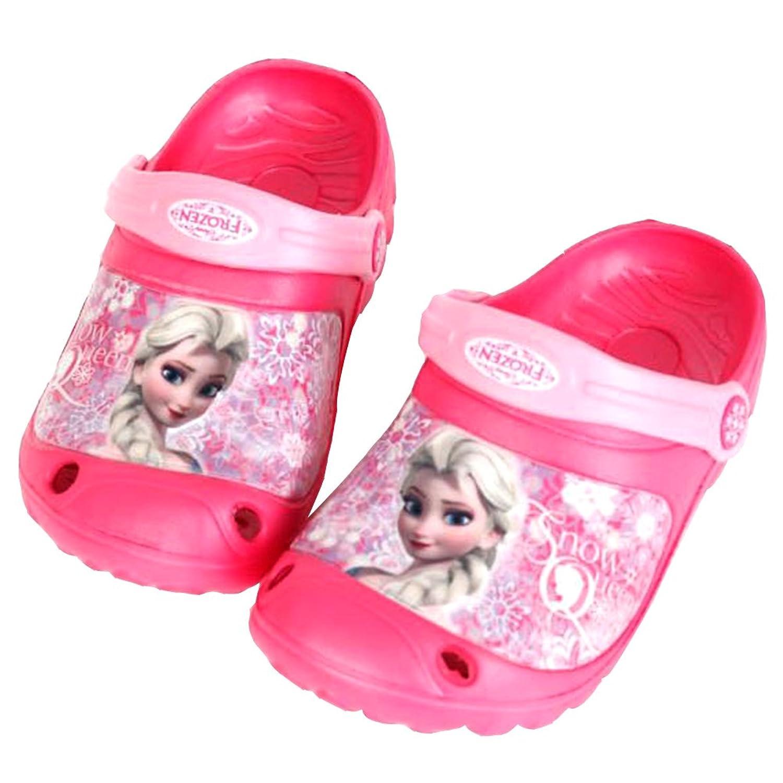 fa1a4194d32aab Joah Store Disney Frozen Elsa Girls Pink Slippers Clog Mule EVA Shoes  (Parallel Import