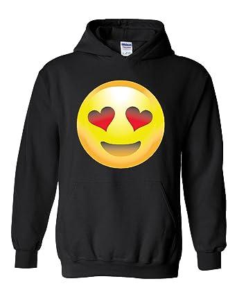 42240199ee32 Amazon.com  NIB Emoji Smiling Face w Heart-Shaped Eyes Unisex Hoodie ...