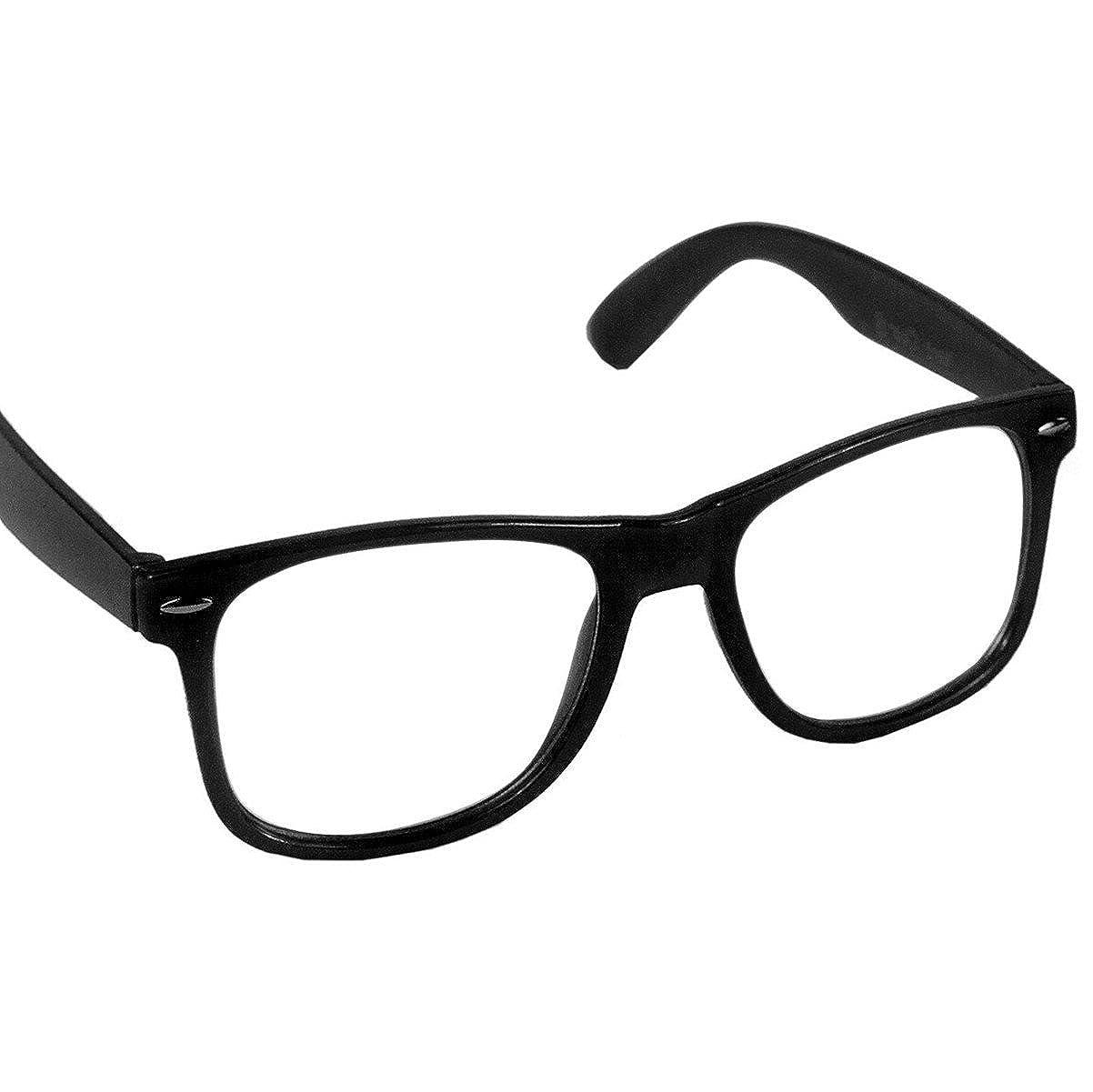 Hornbrille Atzenbrille Nerd Brille Klar oder als Sonnenbrille ...