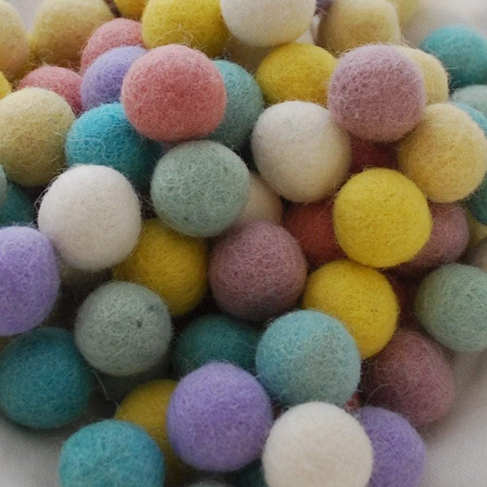 Handmade 1.5cm Felt Balls 100 Count Fall Woodland Colors 100/% Wool Felt Balls