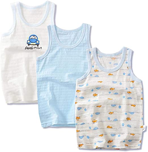 QPM Children's Clothes Boys Vests tees Underwear Kids Camisoles Summer  Cartoon Cotton Tops for Boys,as Photo,3T: Amazon.co.uk: Clothing
