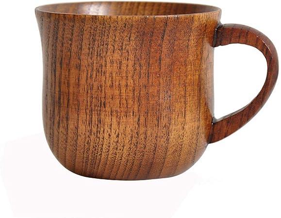 Tasse en bois naturel à la main café thé jus de bière bière boisson