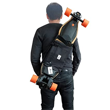 Mochila para Llevar el Longboard electrico, Skateboard Completo, Idea de Regalo San Valentin.